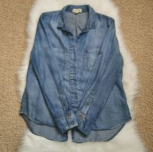 Cloth & Stone Denim Shirt Size L.